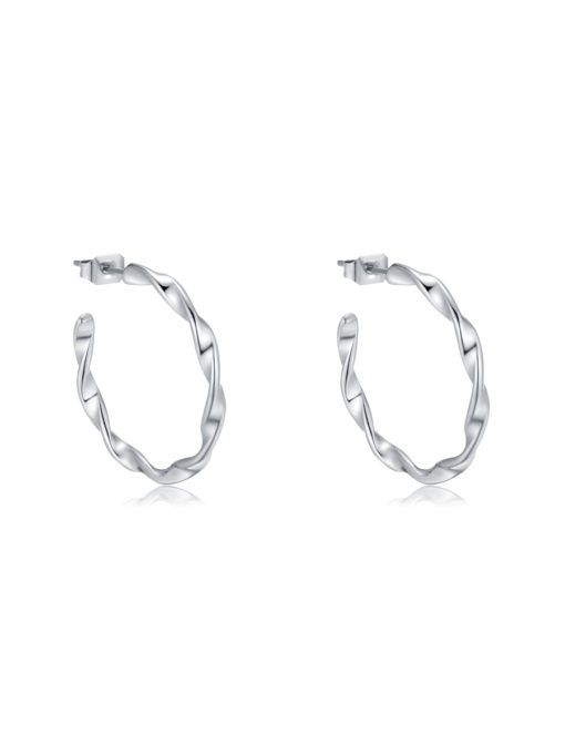 Twisted Hoop Ohrringe ICRUSH Gold/Silver/Rosegold