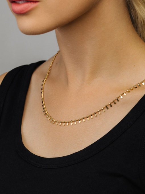 Wild Leaves Kette Long ICRUSH Gold/Silver/Rosegold