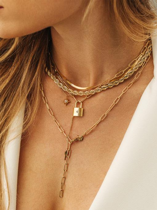 Poised Armband Gold ICRUSH Gold/Silver/Rosegold