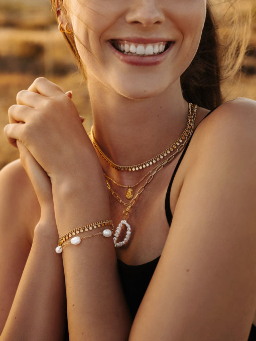 Patience Armband Gold ICRUSH Gold/Silver/Rosegold