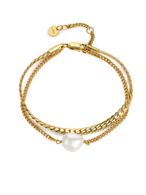 Modern Pearl Armband Gold ICRUSH Gold/Silver/Rosegold