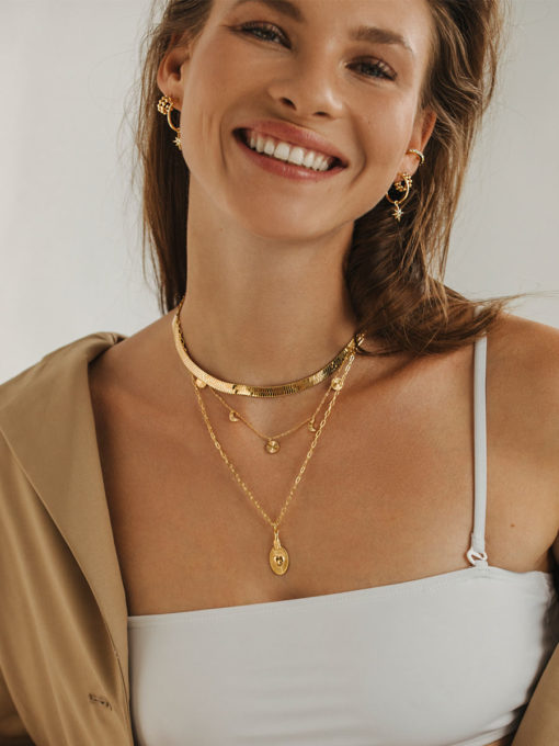 MOON CYCLE KETTE GOLD ICRUSH Gold/Silver/Rosegold