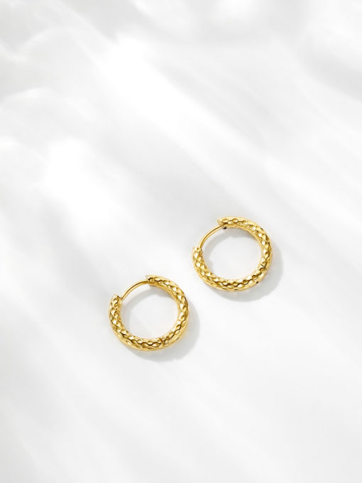 TEXTURED HOOPS SMALL OHRRINGE SILBER ICRUSH Gold/Silver/Rosegold