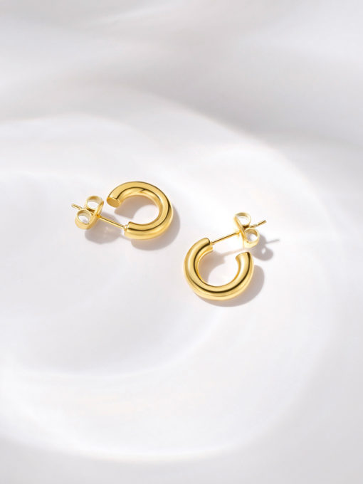 SMOOTH HOOP SMALL OHRRINGE GOLD ICRUSH Gold/Silver/Rosegold