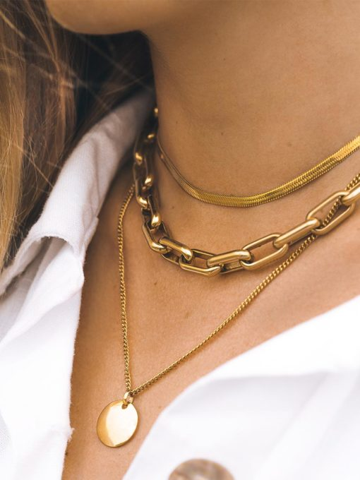 Clear Kette Gold ICRUSH Gold/Silver/Rosegold