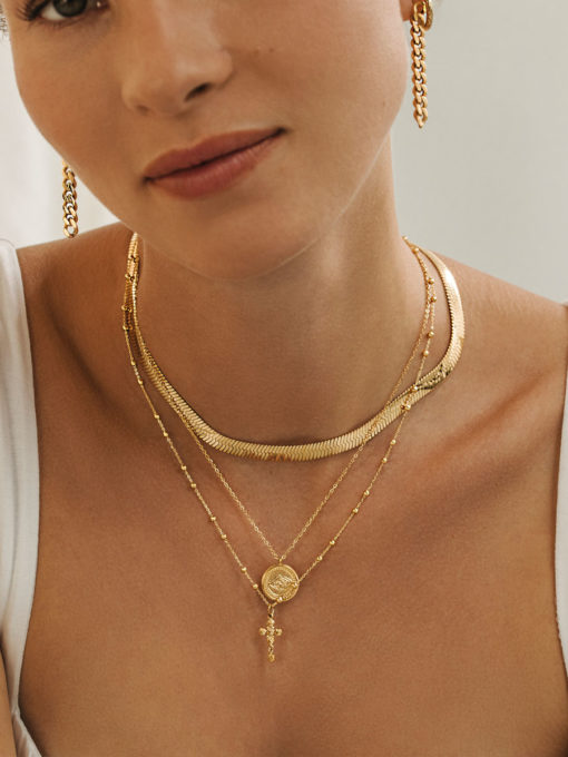 Moon and star chain gold ICRUSH gold/silver/rose gold
