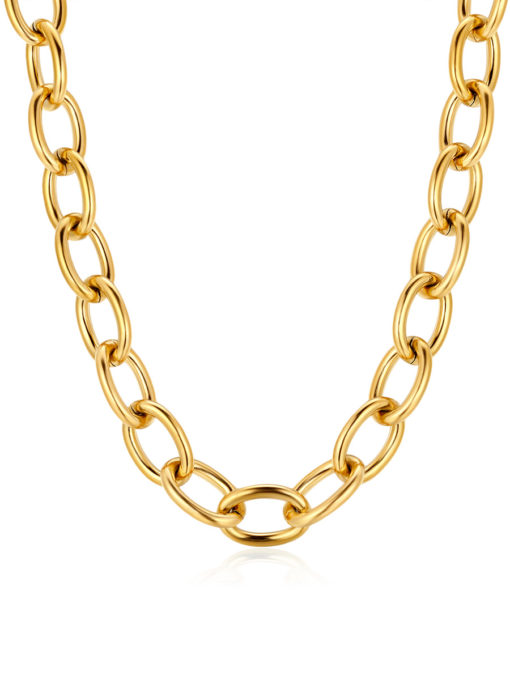 Oval chain Kette Gold ICRUSH Gold/Silver/Rosegold