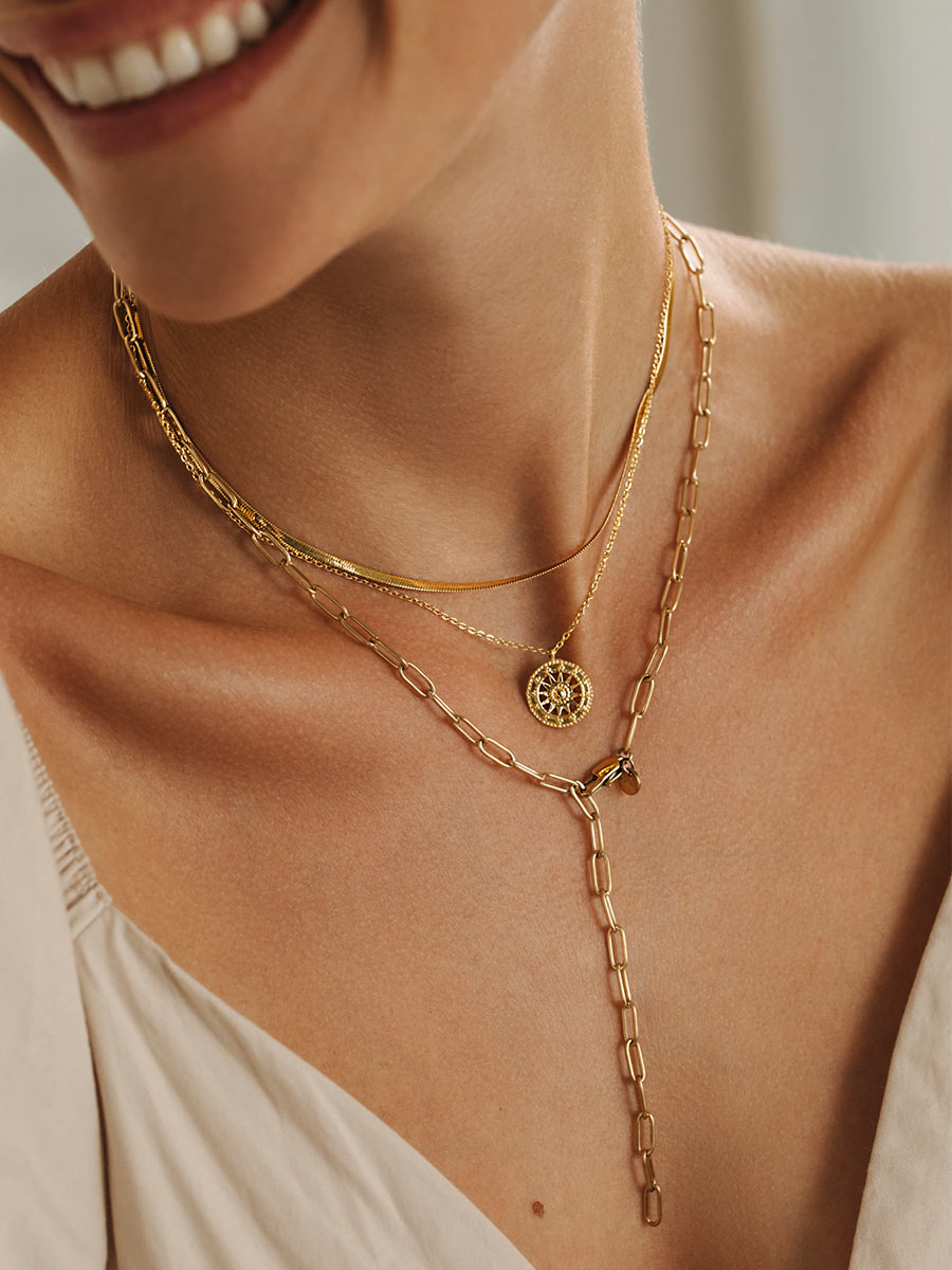 Sail-to-the-sun Kette Gold ICRUSH Gold/Silver/Rosegold
