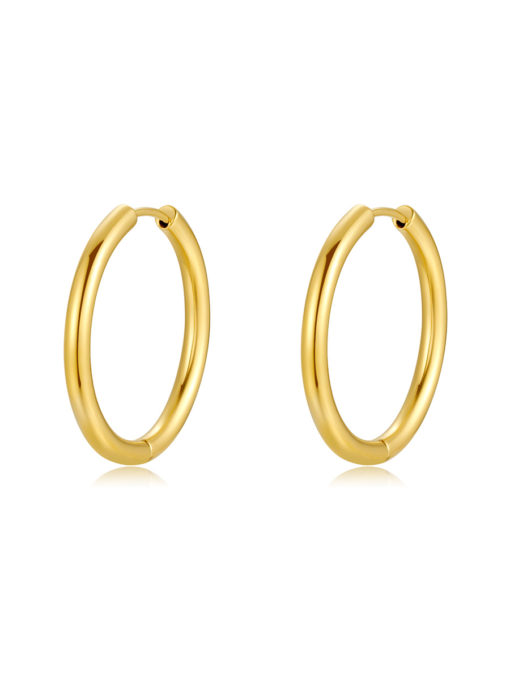 GLOSSY HOOPS OHRRINGE GOLD ICRUSH Gold/Silver/Rosegold