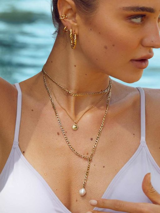 Pearls OT Kette Silber ICRUSH Gold/Silver/Rosegold