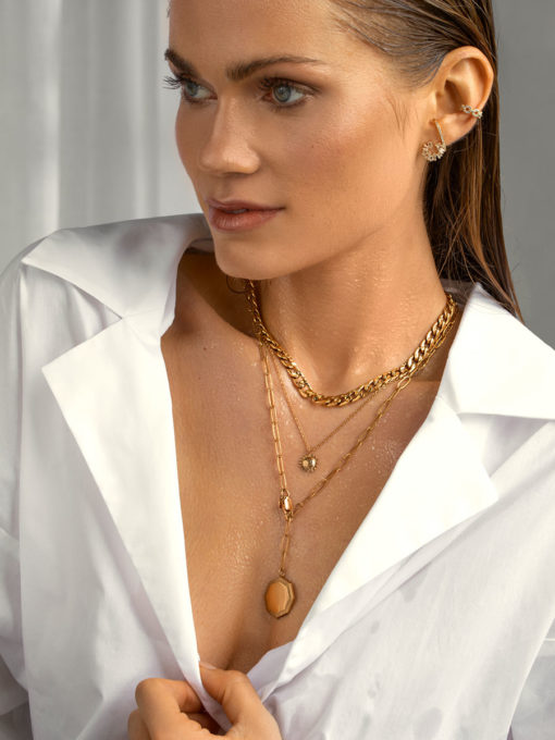Octagon Radiance Kette Gold ICRUSH Gold/Silver/Rosegold