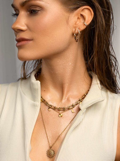 Textured Sun Chain Gold ICRUSH Gold/Silver/Rose Gold