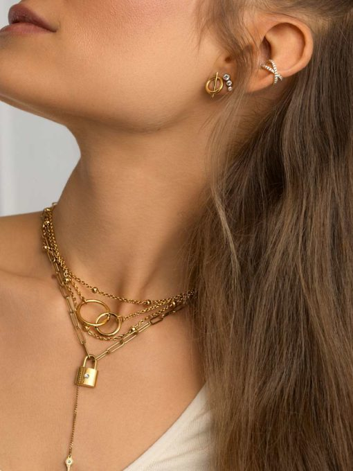 ROUND AND ROUND Kette Gold ICRUSH Gold/Silver/Rosegold