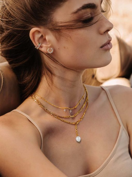 Pearl Pendant Kette Gold ICRUSH Gold/Silver/Rosegold