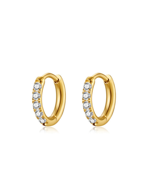 CRYSTALIZED SHINE HOOP SMALL Ohrringe Gold ICRUSH Gold/Silver/Rosegold