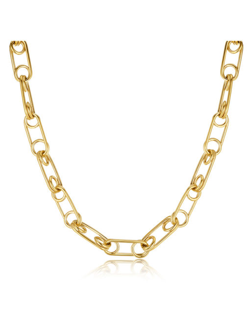 Safety Pin Link Kette Gold ICRUSH Gold/Silver/Rosegold
