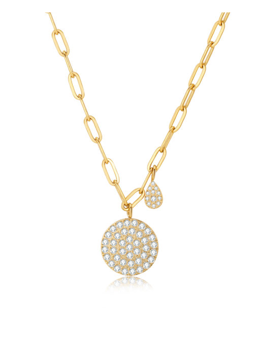 Illuminated disc Kette Gold ICRUSH Gold/Silver/Rosegold