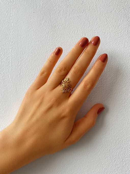 Leaves Ring Gold ICRUSH Gold/Silver/Rosegold