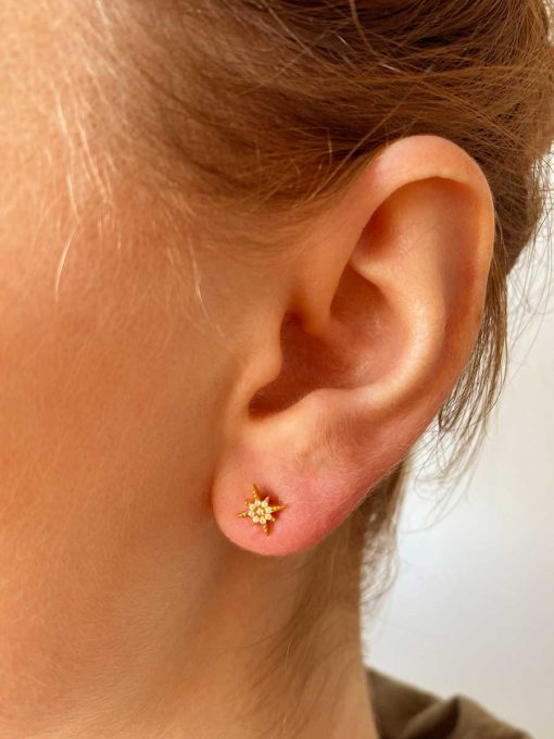 MORNING STAR OHRSTECKER Gold ICRUSH Gold/Silver/Rosegold