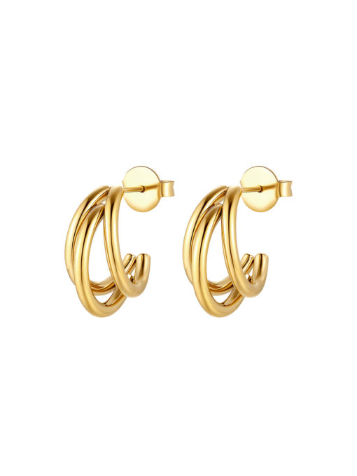 HANGING TRIO Mini Ohrringe Gold ICRUSH Gold/Silver/Rosegold
