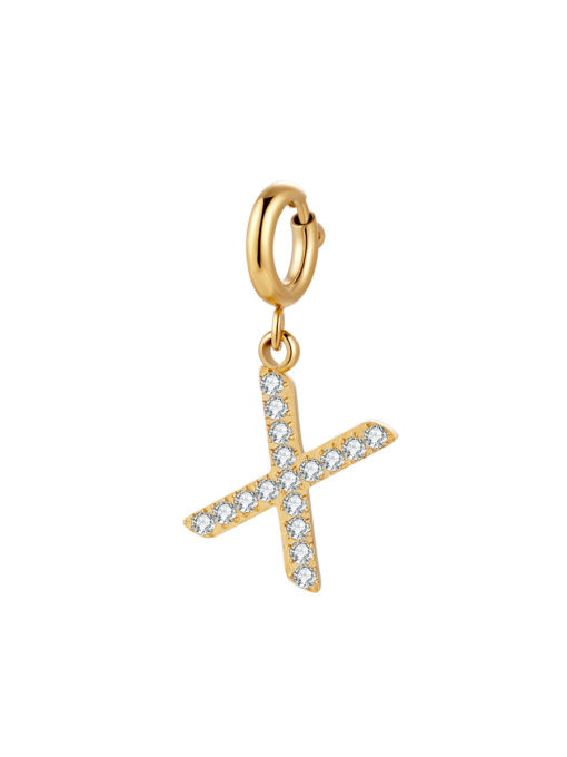 Initial Charm - X ICRUSH Gold/Silver/Rose Gold