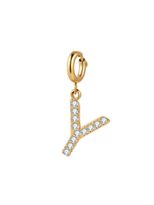 Initial Charm - Y ICRUSH Gold/Silver/Rose Gold