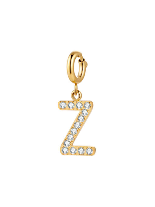 Initial Charm - Z ICRUSH Gold/Silver/Rose Gold